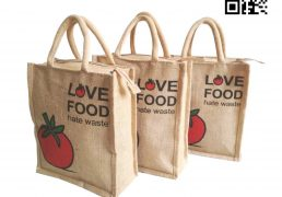 Zipper Closer Lunch Box Jute Bag