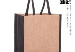 Color Jute Shopping Bag